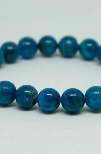 Blue apalite bracelet with deep blue colors