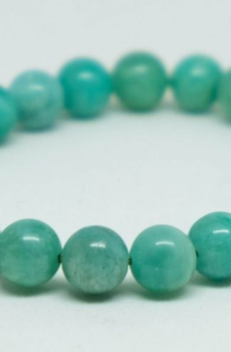 Beautiful light green amazonite bracelet