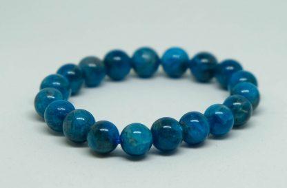 vibrant blue apalite bracelet