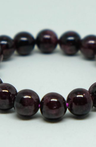 deep crimson garnet bracelet, vibrant dark red