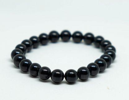 Cool pitch black tourmaline bracelet