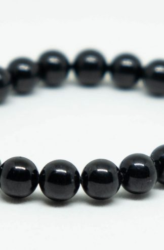 Cool pitch black tourmaline bracelet