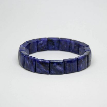Beautiful charoite square bracelet with a deep purple color