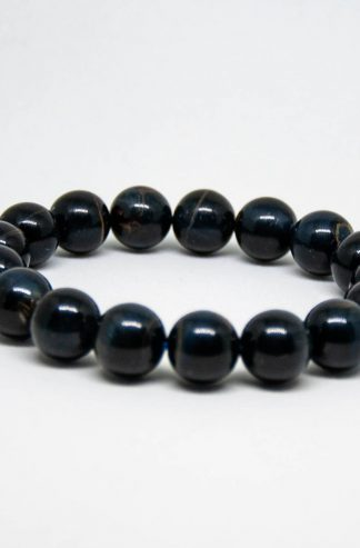 Blue tigers eye bracelet, breath taking in it's deep dark color