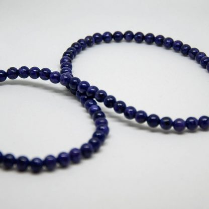 string of 6mm Top Quality Natural Purple Charoite