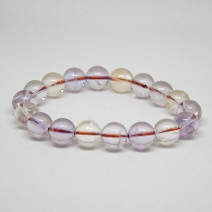10mm Purple Yellow Amethyst Ametrine Crystal Beads Bracelet