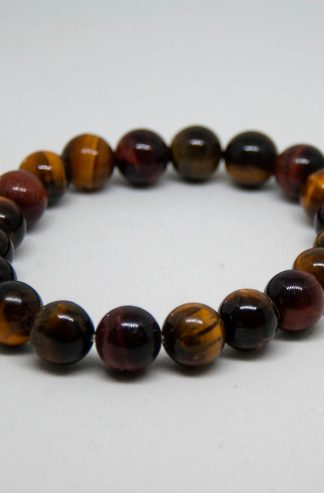 Beautiful multi colored tigers eye