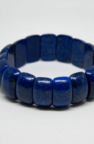 Deep blue Lapis Lazuli bracelet of considerable size