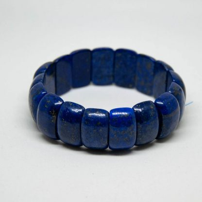 Deep blue Lapis Lazuli bracelet of considerable size