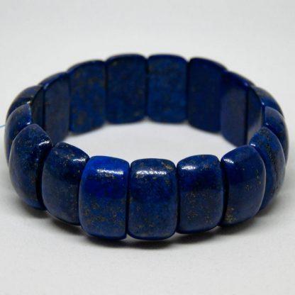massive lapis lazuli bracelet with a deep richt color