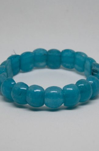 A nice darker piece of aquamarine bracelet