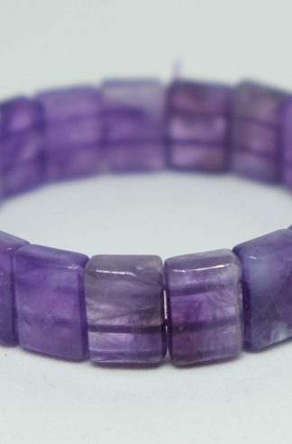Beautiful dreamy amethyst square bead bracelet