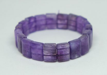 Beautiful dreamy amethyst square bead bracelet