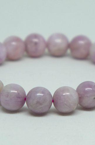 Large pink kunzite bracelet