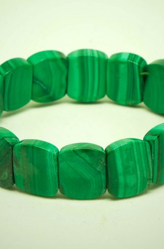 Beautiful green malachite bracelet