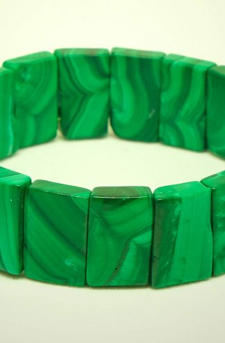 Geen malachite bracelet rectangular